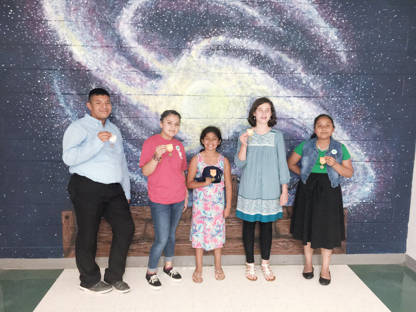 Chatham 4H winners included, from left, Santos Vazquez-Quiquiuix, Celene Mendoza-Villegas, Zva Rodriguez, Avery Wright and Abigail Molina-Bacho.