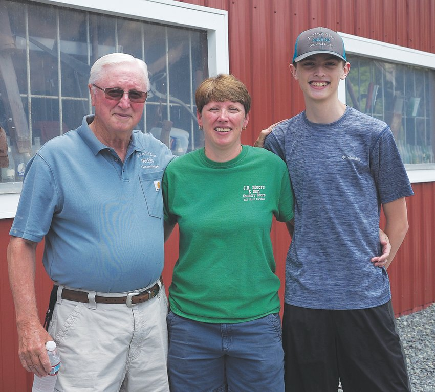 'You learn so much being here. You learn how to deal with the public, you learn a little bit about everything — just like we sell a little bit of everything,' co-owner Julie King-McDaniel said. Her son, Colin McDaniel, 16, (pictured right) recently started working at the store, making three generations of staff present.