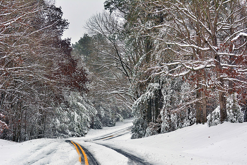Gum Springs Road in Chatham County was a picturesque scene Sunday.