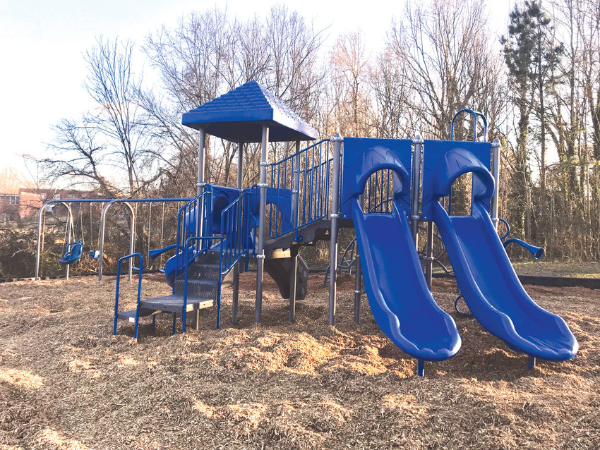 New playground equipment was recently installed at the Landrus Siler Park in Siler City.