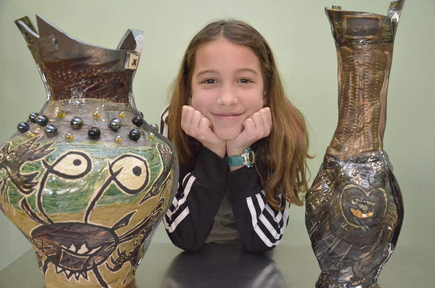 Darby Powers is excited to show her work and share her enthusiasm for art with Siler City.