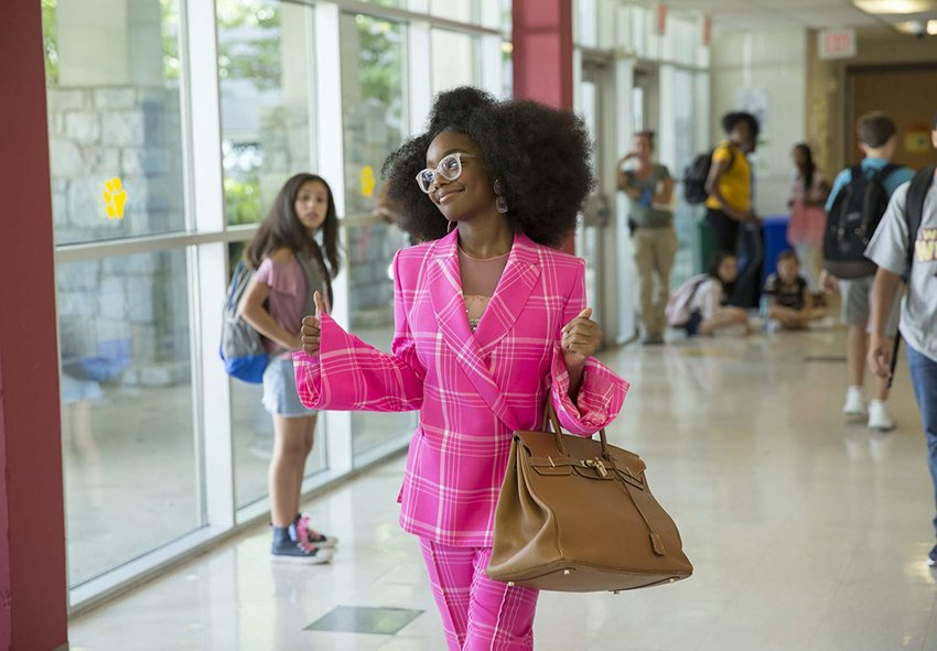 Marsai Martin stars as the teenage reincarnation of high-strung boss-from-hell in 'Little'