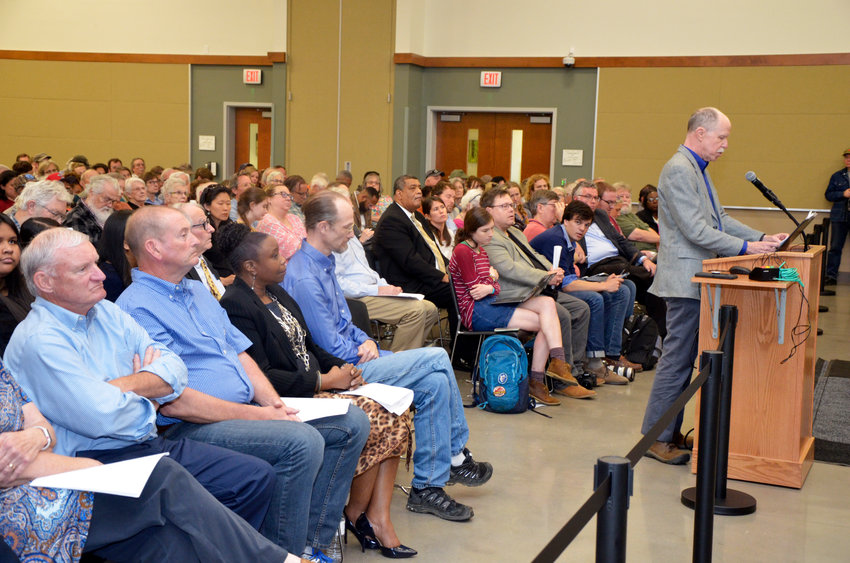Chatham county residents on both sides of the statue debate spoke during Monday's town meeting.