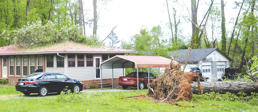 Trees are down in Siler City neighborhoods after a massive wind and rain event came East from Mississippi. The drastic temperature difference set the stage for tornadoes. A touchdown of an EF1 tornado was confirmed in the area.