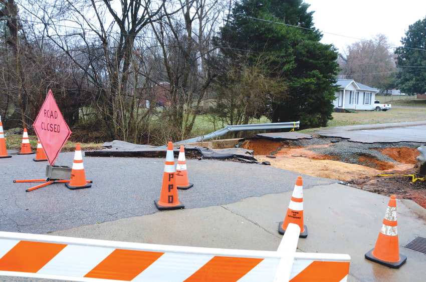 The bridge on Pittsboro Elementary School Road has been washed out for months.