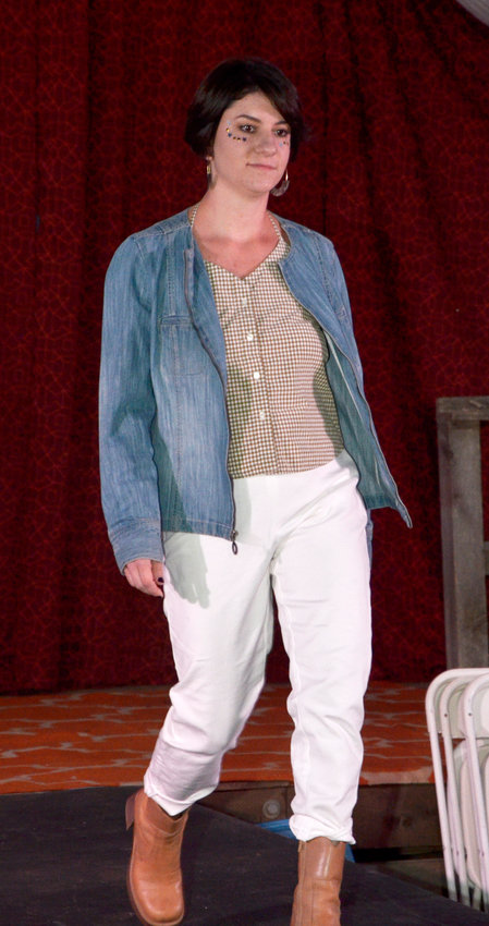 Sustainability in production, using organic cottons and hemp fibers, was the major theme of the runway show in Pittsboro Saturday.