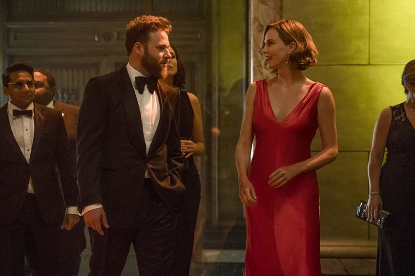 Charlize Theron and Seth Rogen star in the romantic comedy 'Long Shot.'