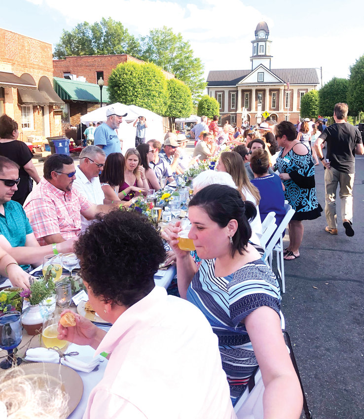 Local on Main fed 236 people on Hillsboro Street set with the backdrop of Chatham's Historic Courthouse.