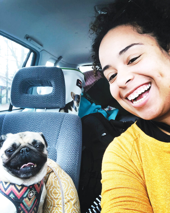 Stephanie Watkins-Cruz lives in Chapel Hill with her 3-year-old pug named Luna.