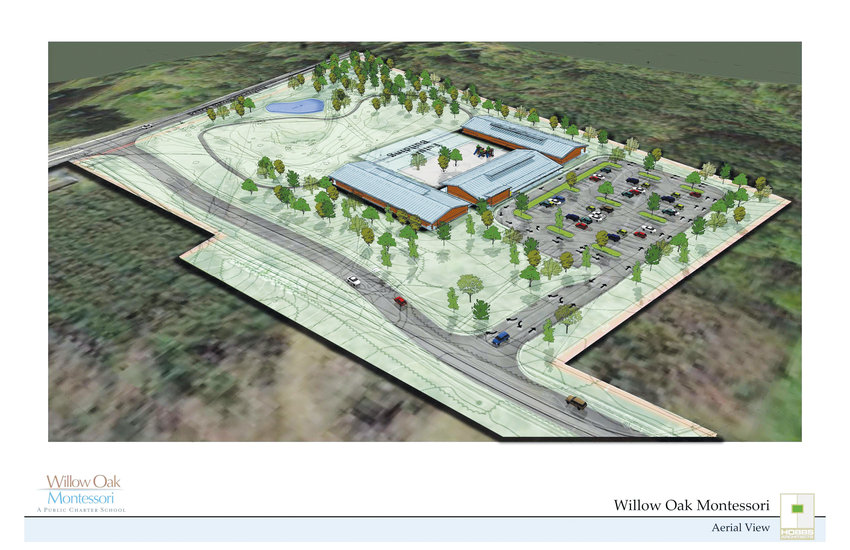 Willow Oak.An illustration depicts the future 30,000 square-foot Willow Oak campus,  expected to be open during the 2020 school year.