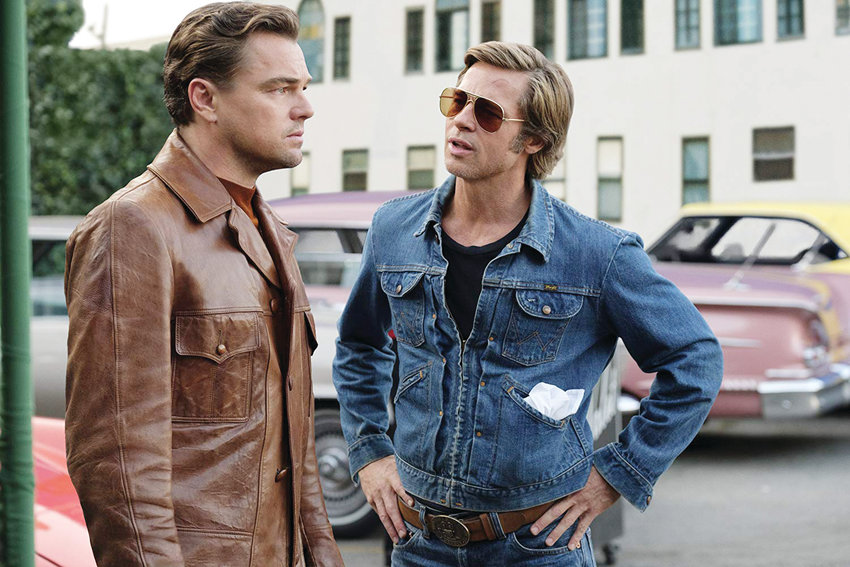 Leonardo DiCaprio (left) and Brad Pitt star in 'Once Upon a Time...in Hollywood.'