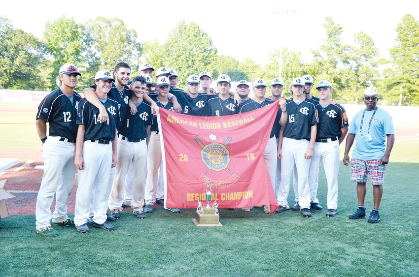 American Legion Post 45 won the Mid Atlantic Region for the third straight year, and they're going to the World Series in Shelby later this week. After defeating Vienna, Virginia, on Sunday, both teams had a 4-1 record, and fought and won the final victory in a second game.