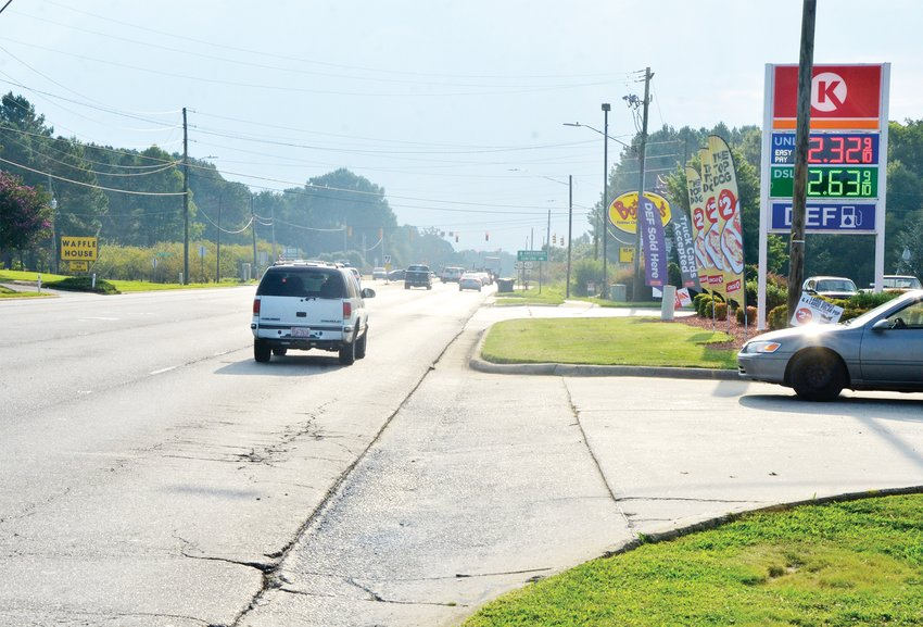 The Department of Transportation revealed its plans to remake a three mile section of US 64 in November. The section to be built will include sidewalks, and will add a median strip with occasional left-turn lanes.