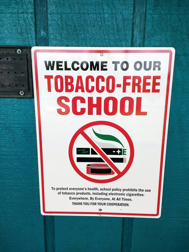 These new 'no smoking' signs have been posted at every Chatham County Schools institution and feature e-cigarettes for the first time.