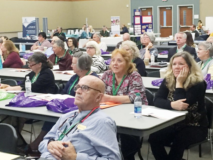 Participants listen to a speaker at a previous Senior Education Conference. The next version of the event will be held Nov. 14 in Pittsboro.