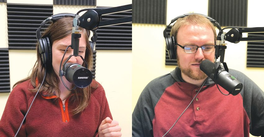 Our Chatham reporter Adrianne Cleven, left, and Chatham News + Record reporter Zachary Horner are the creators and producers of 'The Age of Anxiety,' the first season of the new podcast 'The Chatcast.'