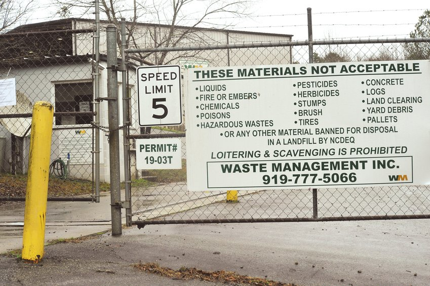 The transfer station on Waste Treatment Plant Road took in a variety of materials for disposal over the past 20 years.