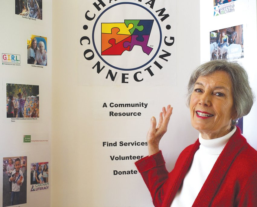 Dianne Birch, one of the many volunteers who help connect other volunteers to needs in Chatham County through Chatham Connecting.
