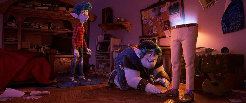 "Marvel Cinematic Universe alumni Tom Holland and Chris Pratt voice elf brothers Ian (Holland, left) and Barley Lightfoot (Pratt) in Disney/Pixar's ""Onward."""