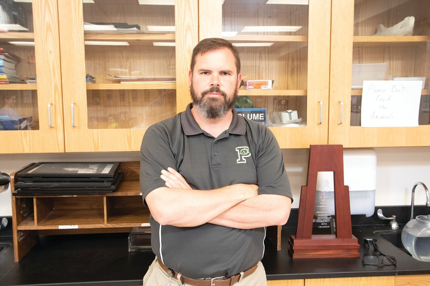 James Hall teaches math and science at Pollard Middle School.