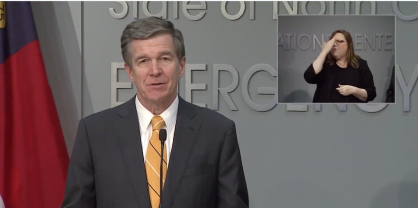 N.C. Gov. Roy Cooper announces his administration's decision Friday to cancel all on-campus classes for K-12 public schools and continue remote learning for the remainder of the 2019-2020 school year.