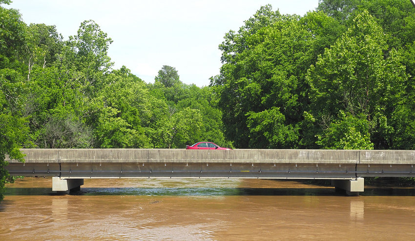 Heavy rains the week before Memorial Day caused many creeks and rivers in Chatham County to rise.