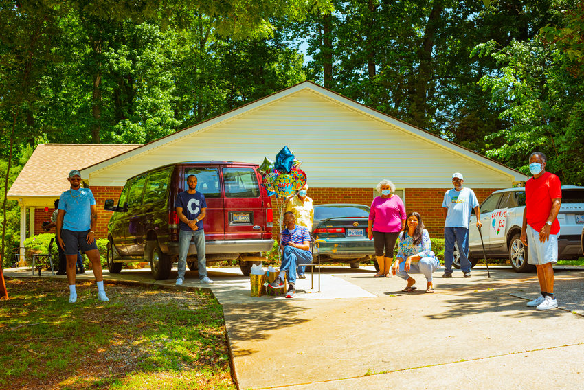 Chatham County Group Homes Inc., a non-profit organization that was established in 1984 to house and support adults with developmental disabilities, held a parade of car show vehicles for a birthday celebration for one of its residents.