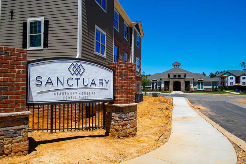 The Sanctuary at Powell Place apartment complex in Pittsboro is one of the first in the area to open during the COVID-19 pandemic.