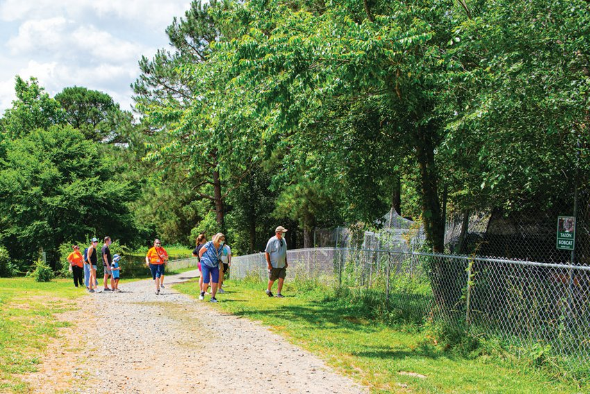 One of the first tours at Carolina Tiger Rescue since the sanctuary re-opened explores the property in Pittsboro this past Saturday.
