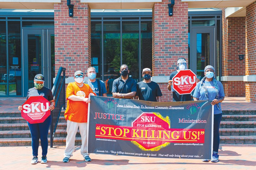 'We're here to say stop killing us. Enough is enough,' the Rev. Curtis Gatewood said at the demonstration he led Saturday at the Chatham County Justice Center, calling for the end of white supremacy with the STOP Killing Us group.