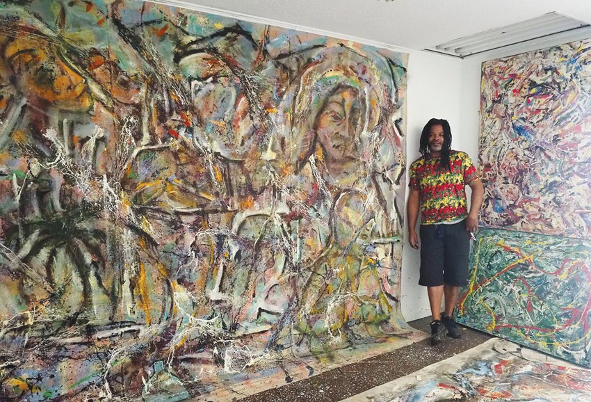 Onicas Gaddis, a local artist, said the increased isolation he's experienced due to COVID-19 has actually been productive — he's made 10 large paintings, which collectively, he said, represent some of his best work.