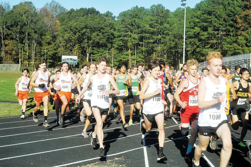 More than 100 athletes from 20 schools competed at the NCHSAA 3A Mideast Regional on Northwood's campus last fall.