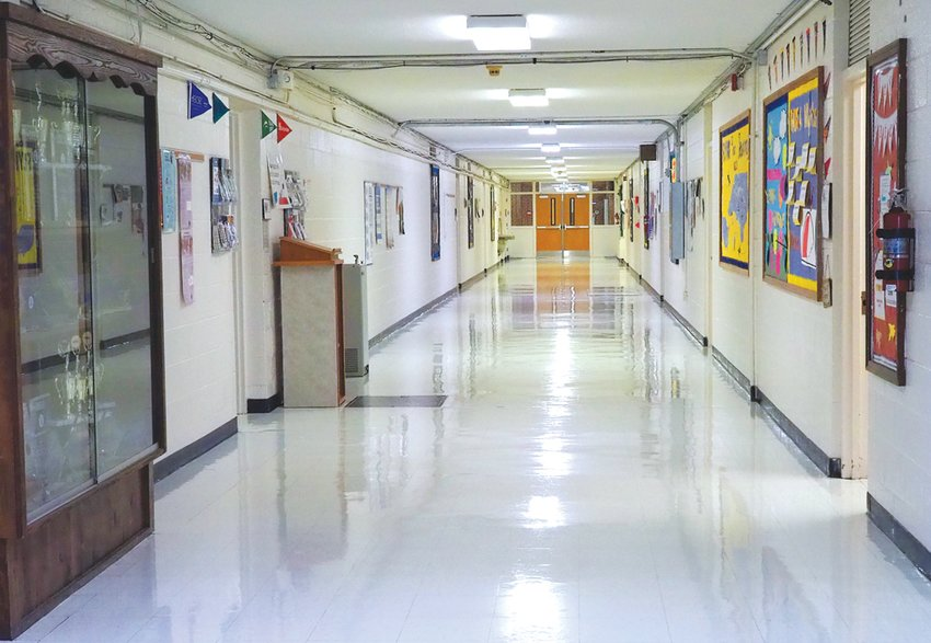 Most CCS high school students have not been back to in-person learning since last March — meaning hallways, like this one at Jordan-Matthews High School, have not seen students in a while. That changed last week, when students were required to attend in-person state testing.