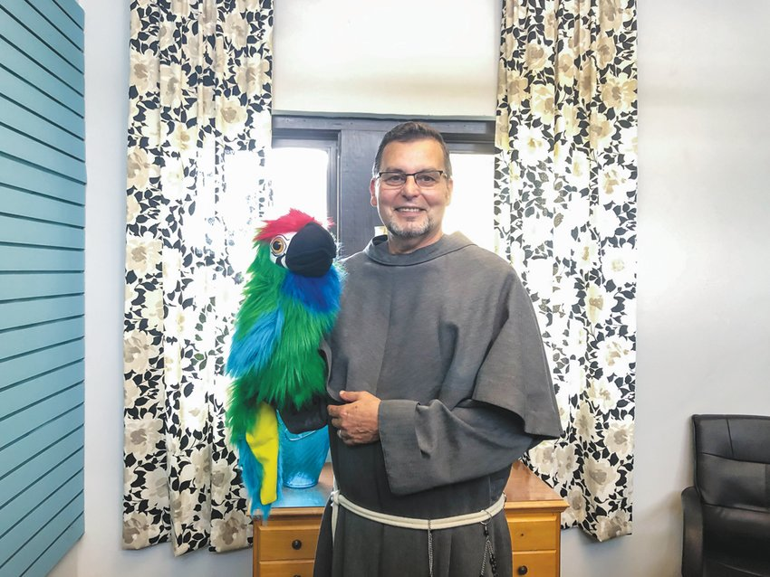 Father Julio Martinez has been leading St. Julia Catholic Church in Siler City for about two years now. He created Pancho, a hand puppet, to engage St. Julia's kids while COVID-19 halted Sunday School classes.