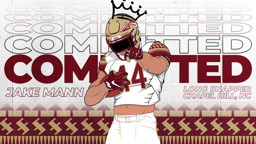 Northwood long snapper Jake Mann (pictured in this edit) committed to Florida State on Sept. 19, 2020.