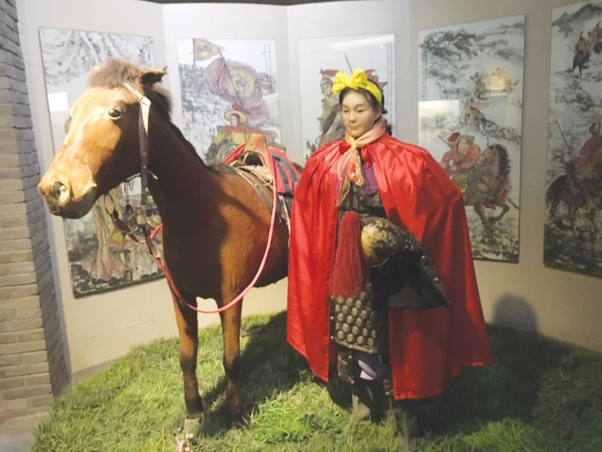 A statue of Mulan stands in a museum in Hohhot, the capital of Inner Mongolia, an autonomous region in the north of China, where the invading Huns used to roam.