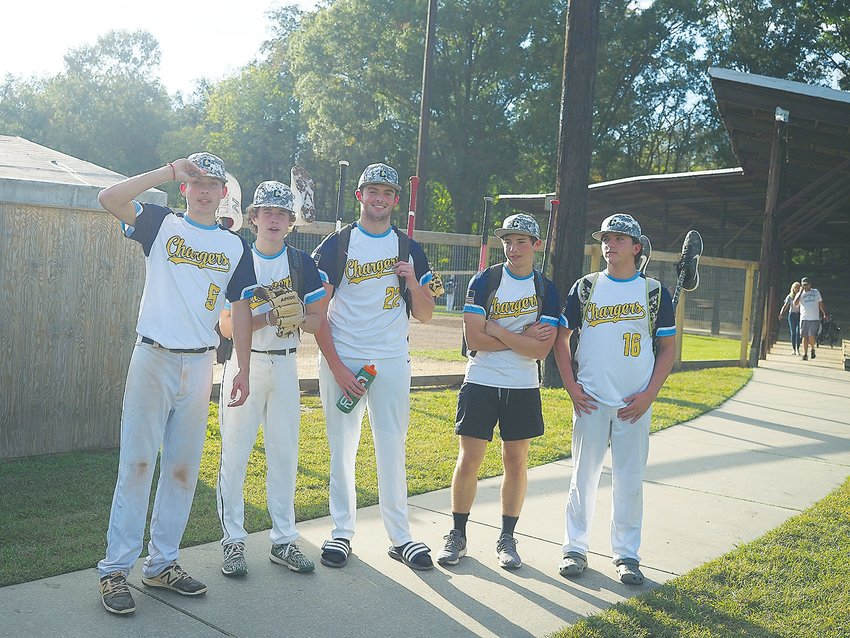 The Chatham Chargers are made up exclusively of Northwood baseball players, including, from left, Landon Johnson, Seth Davis, Ben Maness, Walker Johnson and Nathan McWilliams.