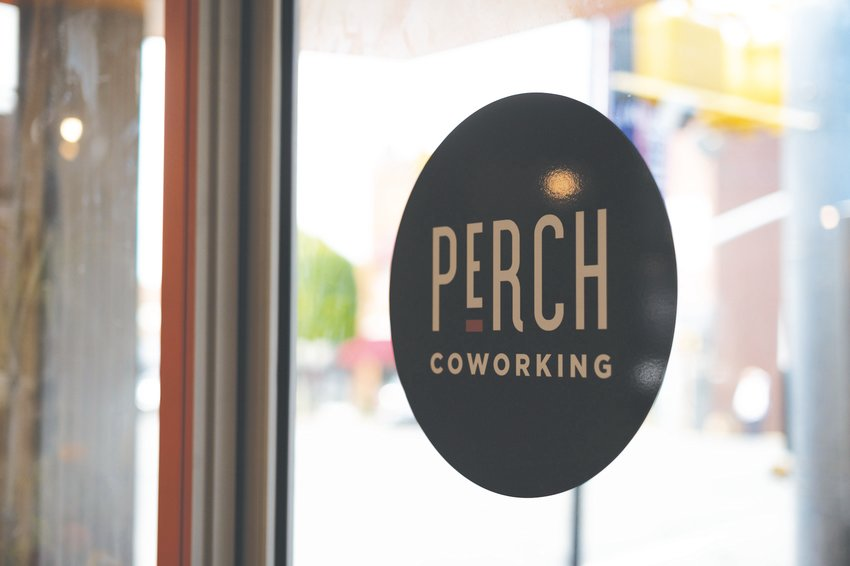 The entrance to Perch Coworking in Pittsboro.