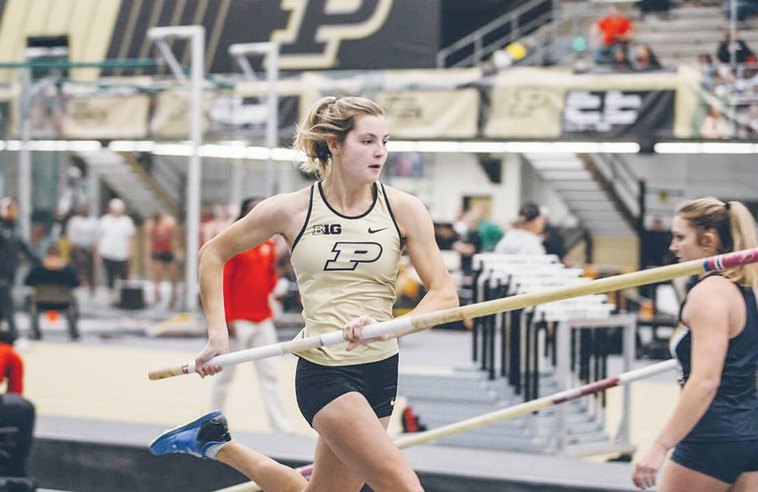 Purdue pole vaulter and Northwood alum Tessa Sheets was one of two former Chargers, along with App State linebacker Brendan Harrington, who spoke to current Northwood student-athletes last Thursday via Zoom.