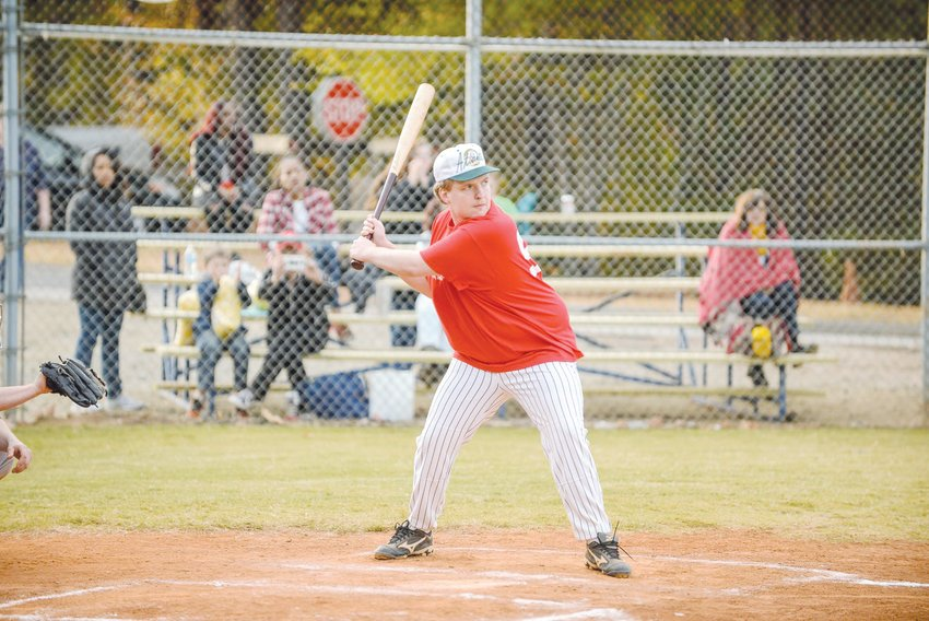 Taylor Duncan, the director and commissioner of the Alternative Baseball Organization, takes an at-bat in a game. Duncan, 25, was diagnosed with autism at age 4 and has spent the last four years building the ABO from the ground up.