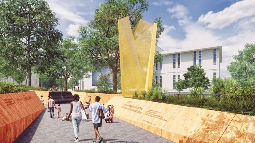 A rendering of N.C. Freedom Park, which will be built in downtown Raleigh.
