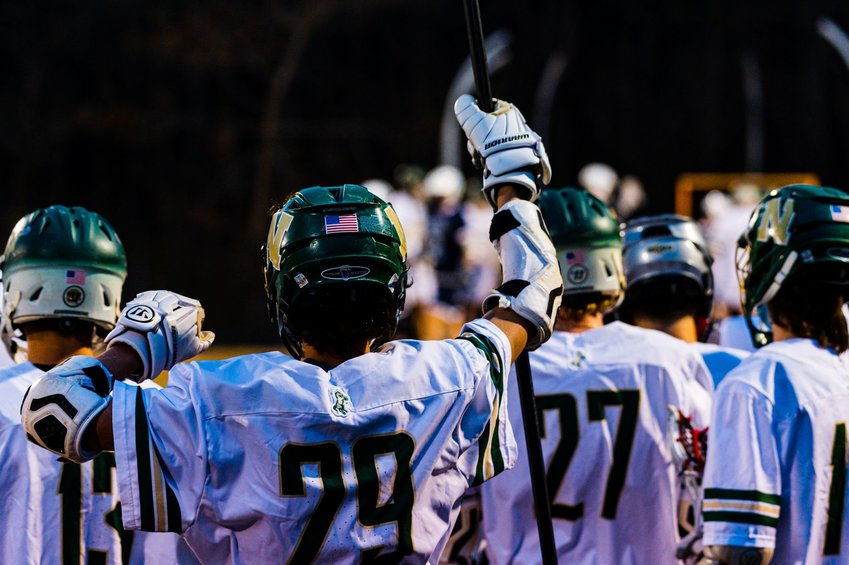 The view from Northwood's sideline during the Chargers' 17-8 win over Swansboro in the first round of the NCHSAA 1A/2A/3A men's lacrosse playoffs on Monday. While the score may not seem like a blowout, Northwood dominated the Pirates for most of the night.