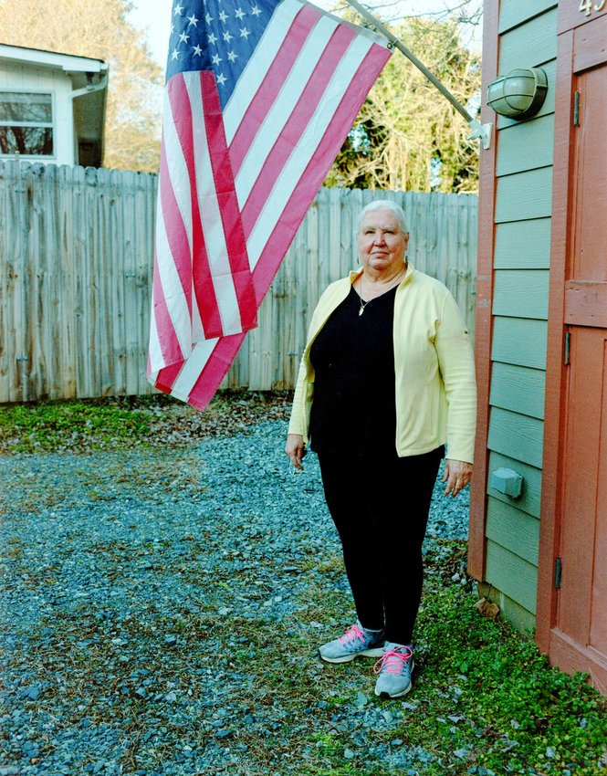 'If you see a flag flying now, it represents to some folks' minds, Christian conservatives who are also patriots,' Pittsboro resident and veteran Monnda Welch said. 'That offends me a lot, because I'm not any of those. And I certainly do have the right to fly my flag.'