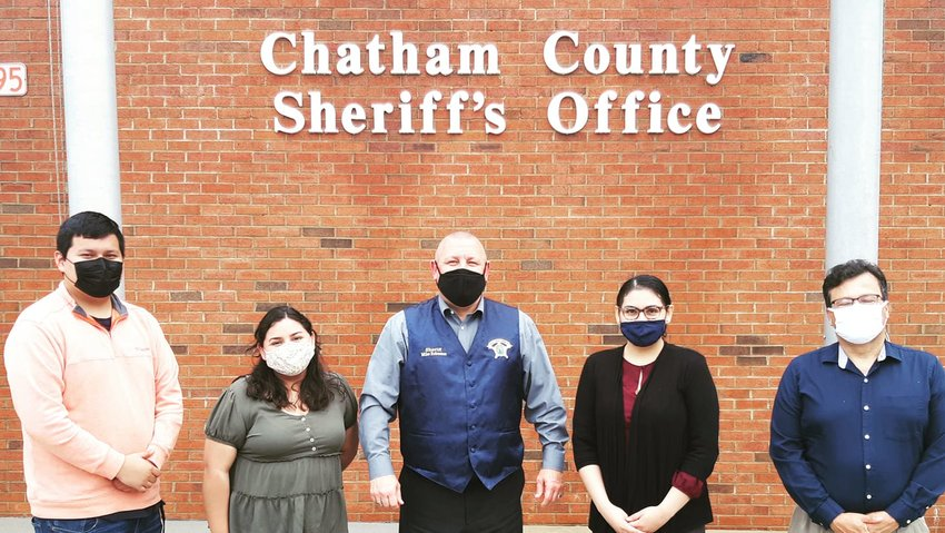 Voto Latino Chatham's members met with Sheriff Mike Roberson last Thursday to discuss their concerns about bills SB101 and HB62, which would require local sheriffs to cooperate with ICE.