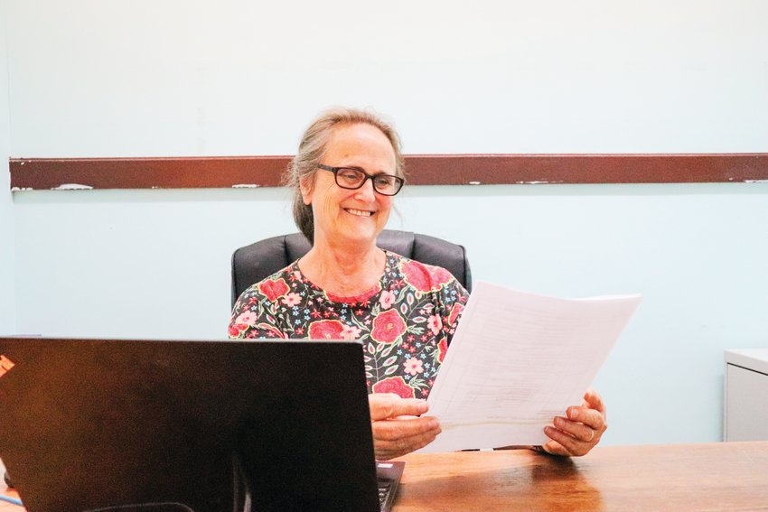 Pam Johnson, who's worked with Communities In Schools of Chatham County for the last 21 years, poses in her office on  the eve of her retirement.