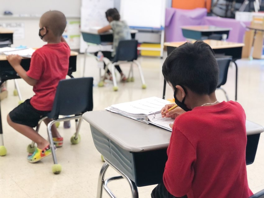 Students learn at Virginia Cross Elementary's summer learning site Monday morning. The six-week program concludes Thursday.