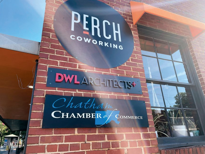 The Chamber has just opened a new office in Pittsboro's Perch Coworking space.