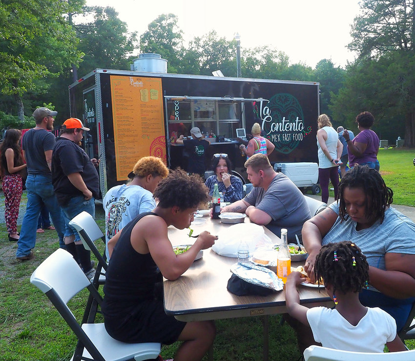 Cedar Grove United Methodist Church's first 'summer fiesta' saw a decent turnout, according to Pastor Danny Berrier. The fiesta offered food, music and boxes of shelf-stable goods from CORA.