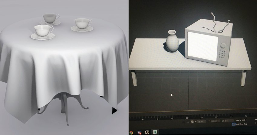 Renderings made by recent CCCC alumus Jayden Sansom in the video game design course she took with the college this past summer. The course is being offered again this fall; registration closes Aug. 30.