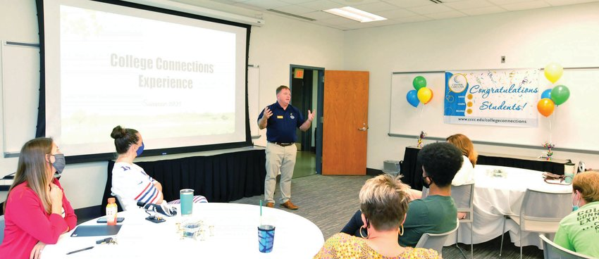 Dr. Carl Bryan, Central Carolina Community College Health & Fitness Science Program Director, was speaker at the College Connections free first-year experience concluding session. Nine students recently completed the CCCC College Connections eight-week summer program.